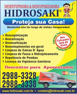 Hidrosaki Controle de Pragas e Desentupidora
